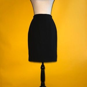 Thierry Mugler knee-length pencil black skirt